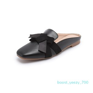 Summer Flats Lady flats Soild Color Slip on round Toe Women Mules Outdoor women shoes b70