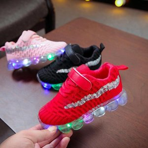 Children LED Shoes Kids Baby Girls Boys Bling Led Luminous Sport Run Sneakers Casual Shoes Sapato Infantil Light Up