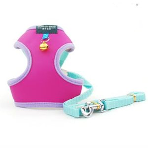 2020 Pet leash cat and dog vest style body care chest strap leather soft mesh cloth dog harness