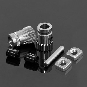 Computer & Office Drivegear kit dual drive gear extruder kit Cloned Btech upgrade for extruder for Prusa i3 3d printer gear Mini