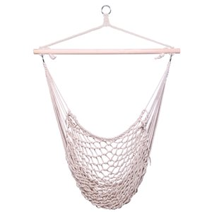 Cotton Hanging Rope Air Sky Chair Swing beige Portable Travel Camping Hammock Bedroom Garden Indoor Outdoor free shipping from US warehouse
