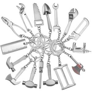 Catena chiave del metallo della catena chiave di chiave della catena chiave di modo degli attrezzi creativi creativi del metallo del regalo di festa del pendente di festa TTA777