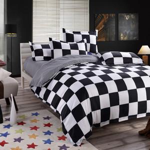 Conjunto de cama clássico 4 tamanho cinzento azul flor roupa de cama 4pcs / capa de edredão conjunto definido lençol Pastoral tampa AB lado edredão 2018