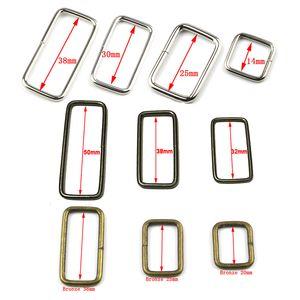 100pcs / lotto scarpe metallo registrabile rettangolo D Anello Belt Buckle del nastro per Zaini Borsa Cat Dog Collar Fibbie Accessori fai da te