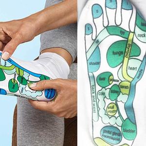 Hot Sale Acupressure Meias Fisioterapia Massagem aliviar pés cansados Reflexologia Meias pé Ponto Meias Inglês completo