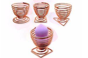 Zucchero Powder Puff Trumpet Storage Rack Strumenti di trucco Egg Air Curing Staffa Beauty Makeup Egg Powder Puff Frame CCA9591