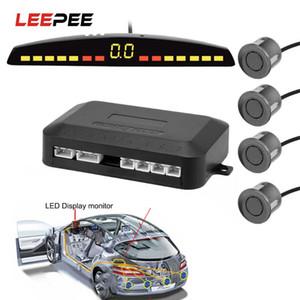 LEEPEE Car Auto Parktronic LED Parking Sensor с 4 датчиками обратный резервный автомобильный радар монитор детектор системный дисплей