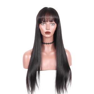 13X6 полный кружева фронт человеческих волос парики прямые предварительно выщипал волосяной покров 150% плотность перуанский Реми кружева фронтальные парики с волосами младенца