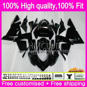 100%Fit Injection For KAWASAKI ZX1000 C ZX 10 R ZX-10R 04 05 Body 62HM.1 Glossy black ZX10R 04 05 ZX1000C ZX 10R 2004 2005 OEM Fairing Kit