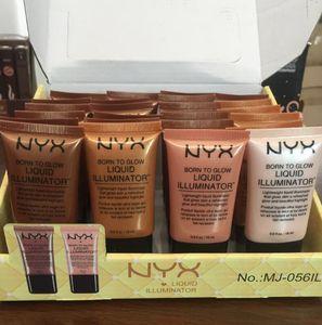 NYX Liquid Foundation Maquillaje Corrector Facial Born To Glow Iluminador Líquido BB Cream Make Up Powder Cosméticos Cuidado de la Piel 18ml