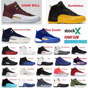 Zapatos 12s Jumpman juego de pelota de baloncesto del Mens 12 Gris oscuro diseñador de los hombres la zapatilla de deporte del deporte zapatos para correr formadores de arranque con la caja