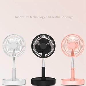 Taşınabilir USB Fanlar Teleskopik Katlanabilir Mini Fan Elektrikli LED Fan Soğutucu USB Şarj edilebilir Danışma Fanlar Deniz Nakliye LJJO8057N