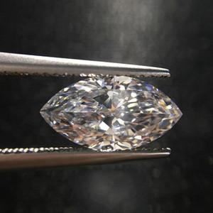 0.1CT إلى 3CT تفقد ماركيس مويسانيتي الحجارة شكل قطع الماس D لون حقيقي FL الوضوح الزيتون اجتياز الاختبار مع شهادة لوضع