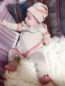 Мальчик комбинезон детский костюм для девочки младенческой комбинезон с шляпой одеяло девочка и мальчик дизайнер одежды двойной вязать жаккардовые одежды YG1126