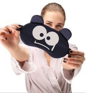 19.5*10cm Cute Cartoon eye mask travel Skeep Adjustable elastic strap Plush Cute Sleeping Eye Mask Ice Bag Eye Cover H109 011