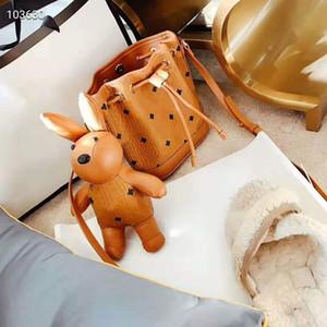 Розовый sugao дизайнер ведро мешок печати мешки Mletter маленький кошелек женщины мешок плеча сцепления с кроликами Crossbody мешок повелительницы сумки 2color