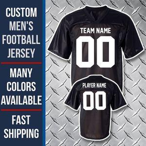 Üst kalite ! Özel Amerikan Futbolu Forması 32 Takım Erkek Kadın Gençlik Kişiselleştirilmiş Kolej Formalar 100% Dikişli Adı Numarası