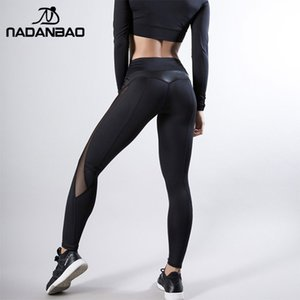 NADANBAO Ruching Push Up High Waist Women Leggings Sporting Fitness Legging Sexy Mesh Workout Sportswear Leggin Pants