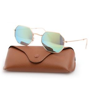 New UV400 Защита Солнцезащитные очки Лазерные Логотипы Очки 3549 Мужские Очки Классические Солнцезащитные очки Womanans Восьмиугольные Очки Бренд Солнцезащитные очки с коробкой