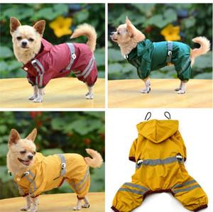Yavru Pet Köpek Serin Yağmurluk Glisten Bar Hoody su geçirmez Yağmur Güzel Ceketler Coat Giyim Giyim