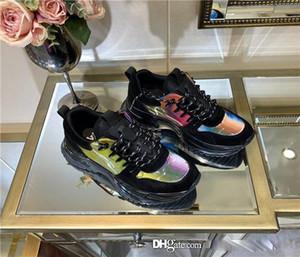 Louis Vuitton LV  deporte de las mujeres, arco iris de múltiples colores zapatillas de deporte de gran tamaño, calzado deportivo, zapatos causales, rojo en la parte inferior, marco