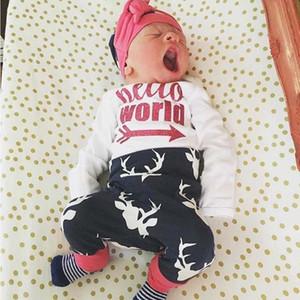 Christmas Boy Set 0-24M 3Pcs Newborn Baby Boys Cotton Top Romper Pants Leggings Outfits Clothes