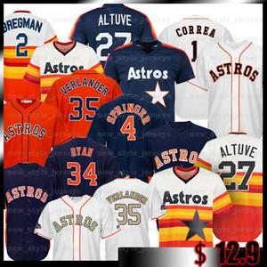 35 Justin Verlander 2 Alex Bregman 27 Jose Altuve 4 George Springer 1 Carlos Correa 7 Craig Biggio Baseball Maillots