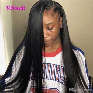 Pelucas de cabello humano de encaje Raw Indian Virgin Remy Cabello humano 150% Densidad DHgate 13 * 4 Peluca de encaje de cabello humano dhgare Perruques de cheveux humains