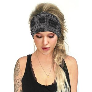12 Colors Women Yoga Headbands Digital Flower Printed Multi-functional Face Mask Casual Headscarf Outdoor Sport Hairband for Fitness Protec