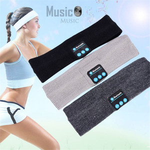 Newly 100% and high quality Bluetooth Music Headband Knits Sleeping Headwear Headphone Speaker Headset free shipping