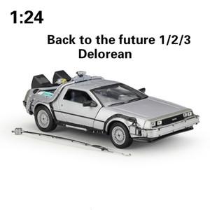 WELLY 01:24 Lega Classic auto in DeLorean nuovo alla parte futura 1/2/3 DMC-12 di metallo modello di auto giocattolo per bambini Gifts Collection T191129