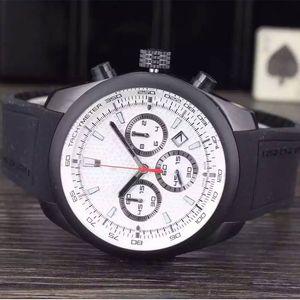 Alta calidad de lujo para hombre relojes de cuarzo movimiento cronógrafo reloj de pulsera todo pequeño dial 100% trabajo para hombre diseñador reloj relogio masculino reloj