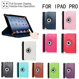 Case para iPad Pro 9.7 2016 modelos A1673 A1674 A1675 Tampa 360 graus de rotação capa de couro inteligente sono Awake caso Samsung TabT590 T860 T290