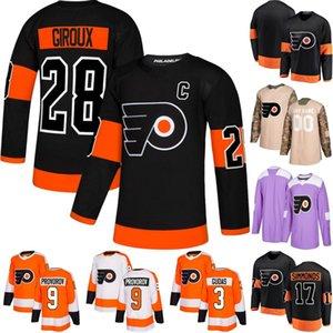 Philadelphia Flyers Forması 79 Carter Hart 14 Sean Couturier 28 Claude Giroux 33 Kamera Talbot 38 Ryan Hartman 44 Phil Varone Hokeyi Formaları