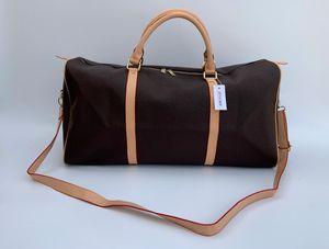 2019 nuovi uomini di modo donne borsa da viaggio Duffle Bag, borse in pelle borse grande capacità sacchetto di sport 54CM