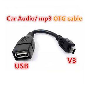 MP3의 MP4 미니 USB B 남성 케이블 어댑터 5P OTG V3 포트 데이터 케이블의 경우 자동차 오디오 태블릿에 가방 USB 여성 10PCS