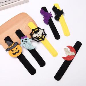 Halloween Bracelet Pumpkin Ghost Bat Spider Plush Wristband Kids Adult Halloween Loop Decoration Party Favor