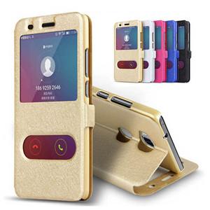 Fenêtre transparente pour Motorola Moto G7 G5 G6 E4 E5 + Z Z2 Jouer de luxe flip Motif de soie en cuir Housse de protection Téléphone Coque