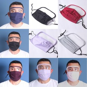 DHL Shipping 2 In 1 Washable Face Mask Can Use Pm2.5 Filter Pad Protection Eye Face Cover Masks Reusable Washable Mask X239FZ