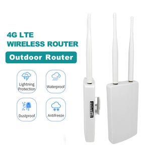 4g LTE Wifi Router 4g Sim Cm Card Outdor Cpe Wifi Hotspot Unlock Modem 3G 4G Wireless Router Broadband هوائيات WAN / LAN Port