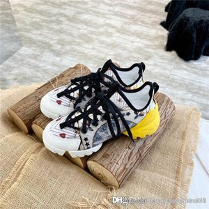 Sports daddy shoes ladies Lycra fabric with silk cowhide printing color mixed,Thick-soled heightening sneakers for womens