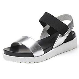 Sandales d'été pour femmes de la mode féminine chaussures basses sandales romaines dames tongs Sandalia Feminina O0507 # 30