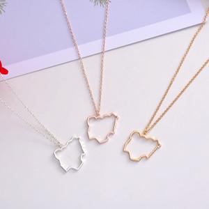Контур Федеративная Республика Нигерия карта ожерелье Африка страна нигерийский континент кулон цепи ожерелья для женщин ювелирные изделия