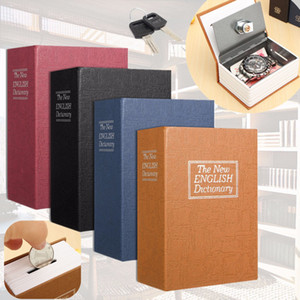 CKC 1pc Cash Money Coin Storage Gioielli Key Locker Dizionario Mini Safe Box Book Money Hide Sicurezza segreta sicura Lock Kid regalo