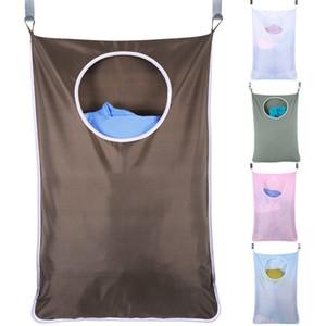 Ménage porte murale sac suspendu Sac de rangement en tissu Oxford Grande capacité suspendu sac de rangement pour vêtements sales