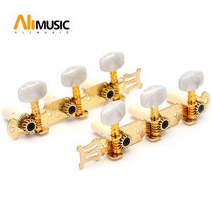Un conjunto de 1R1L oro clásico de la guitarra Clavijas de afinación Claves sintonizadores Clavijeros MU0660