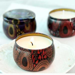 atacado 100ml caixa de folha de flandres rodada lata vazia para DIY velas perfumadas caixa de armazenamento lanche jóias jarro de doces