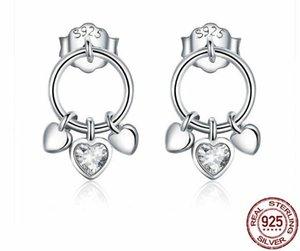 Orecchini pendenti in argento sterling con ametista naturale PW2 per le donne Orecchini di qualità pulita di Birthstone di ametista naturale di febbraio