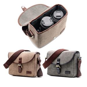 Retro saco da câmera à prova d 'água pacote de fotografia caso de ombro dslr para sony nikon canon lona micro mens messenger homens mulheres t190701