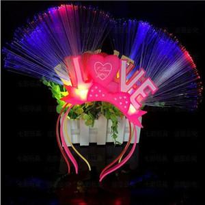 LED стяжкой любя вечеринок Hallowween Рождество аксессуары Пластиковые Сияющий Powder Optical Fiber Optic